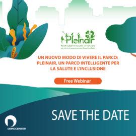 Un nuovo modo di vivere il parco: Pleinair, un parco intelligente per la salute e l'inclusione – 4 giugno 2020